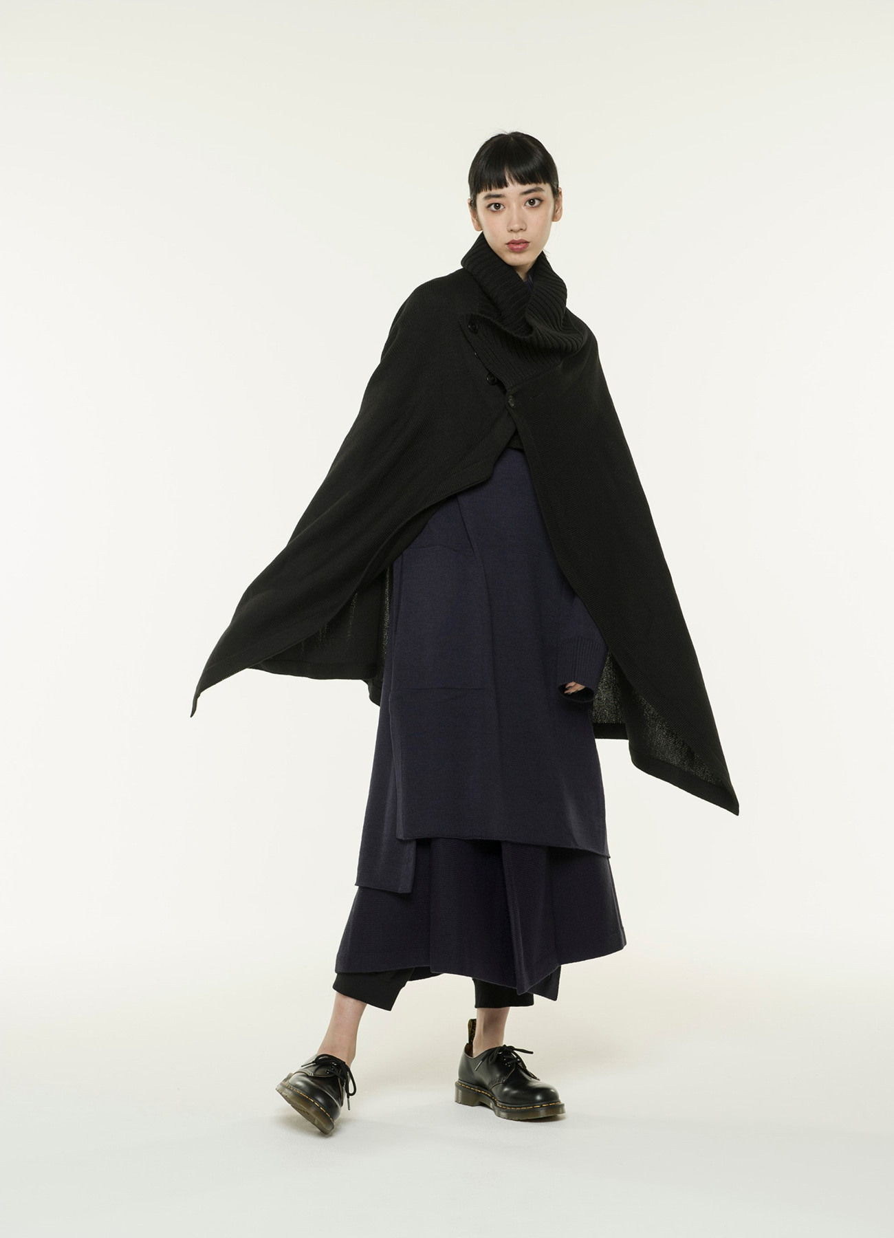 Queen's code 2 WAY wrap skirt poncho