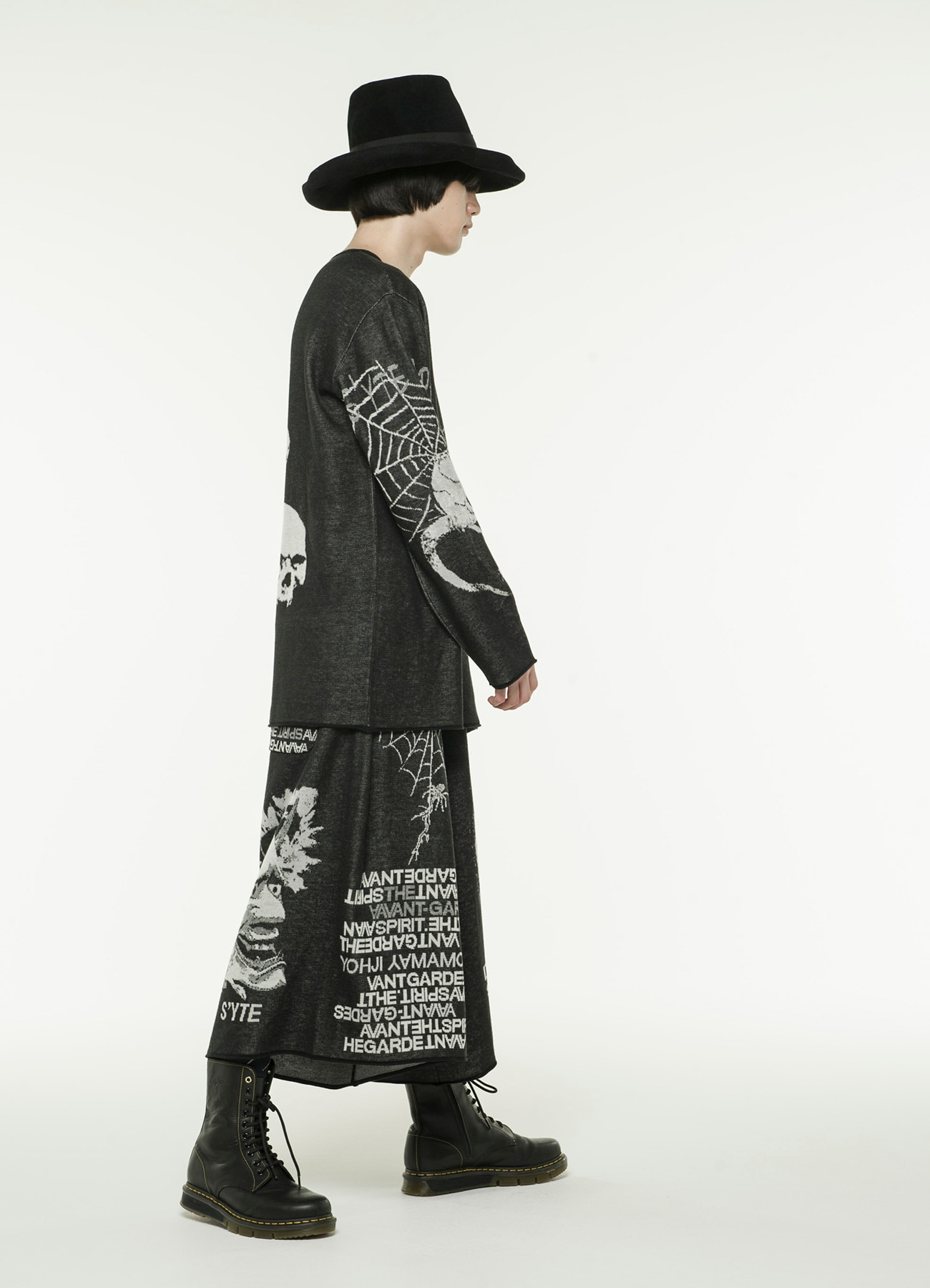 Hameauze Jacquard Knit Graphic Total Feature Culottes Pants