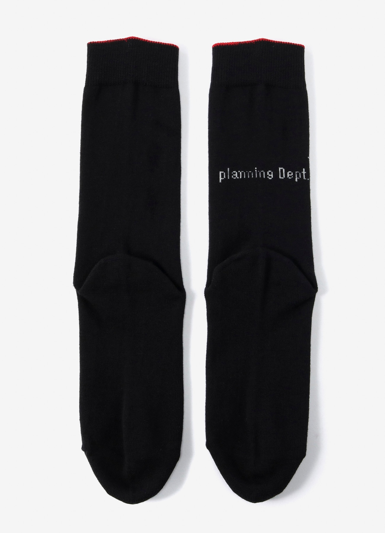 Cottonp Plain Stitch Logo Socks