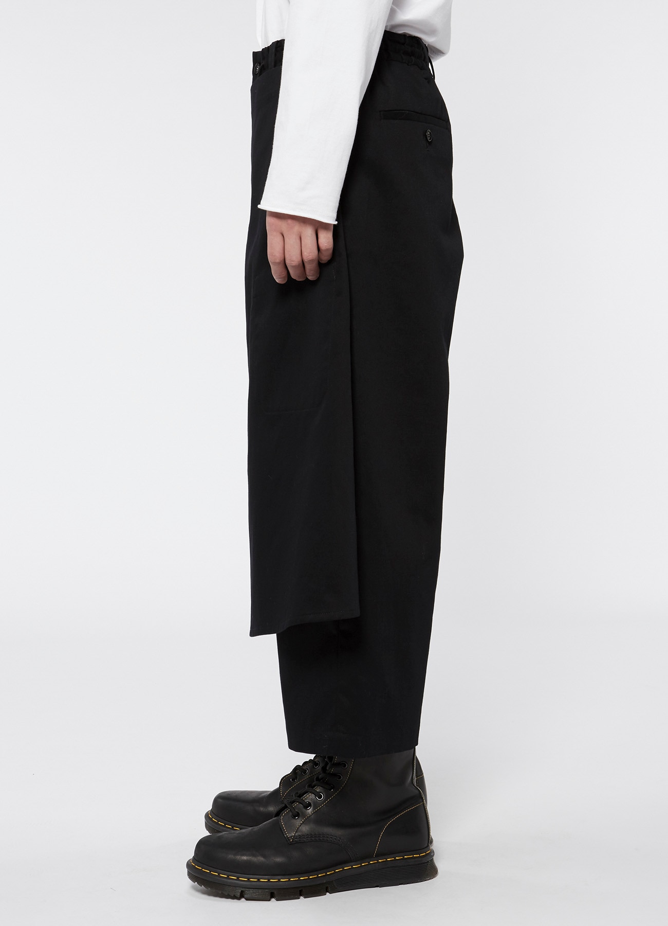 20/Cotton Twill Stretch Wrap Cropped Pants