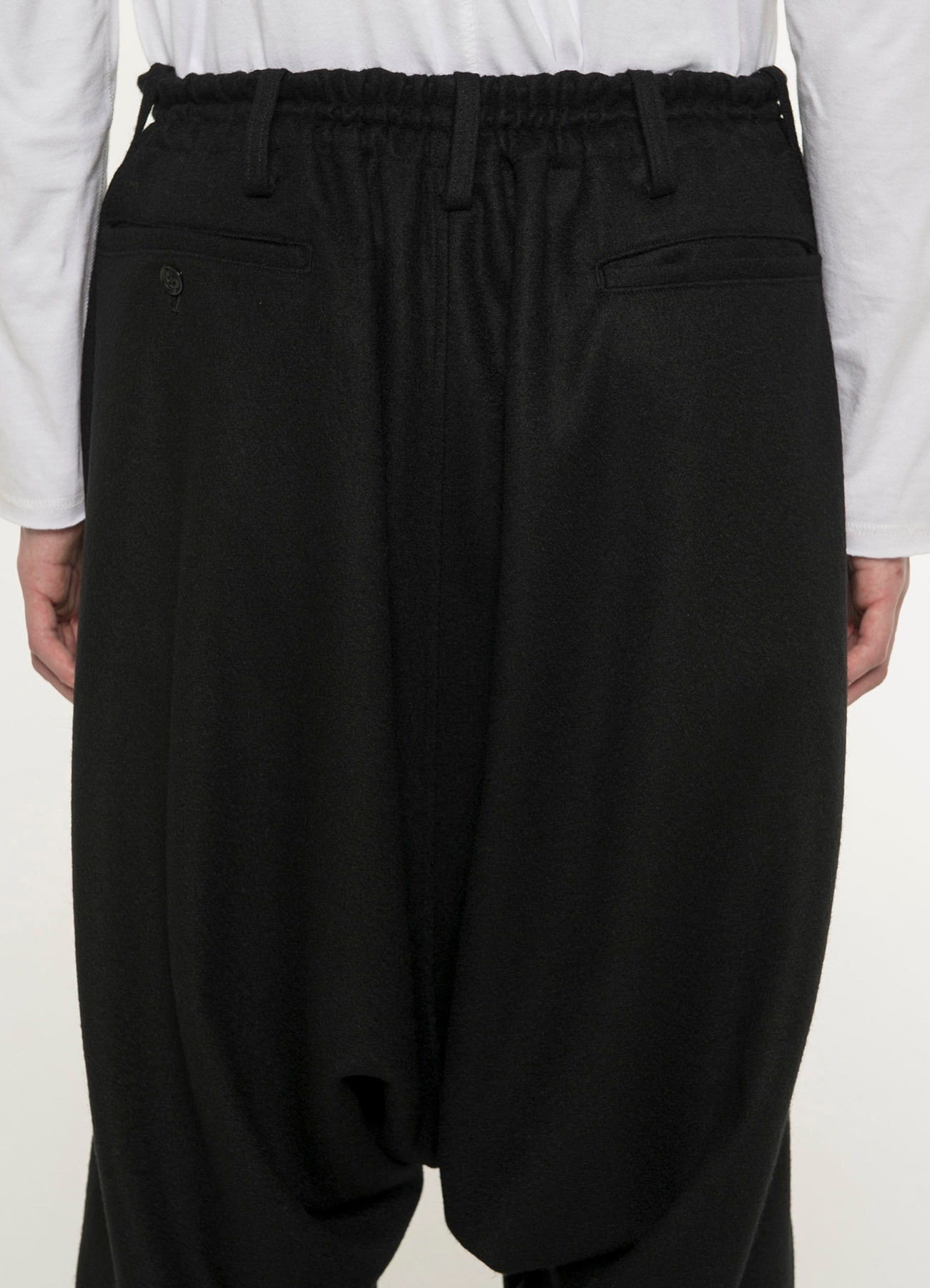 Compression Wool Hem Rib Balloon Sarueru Pants