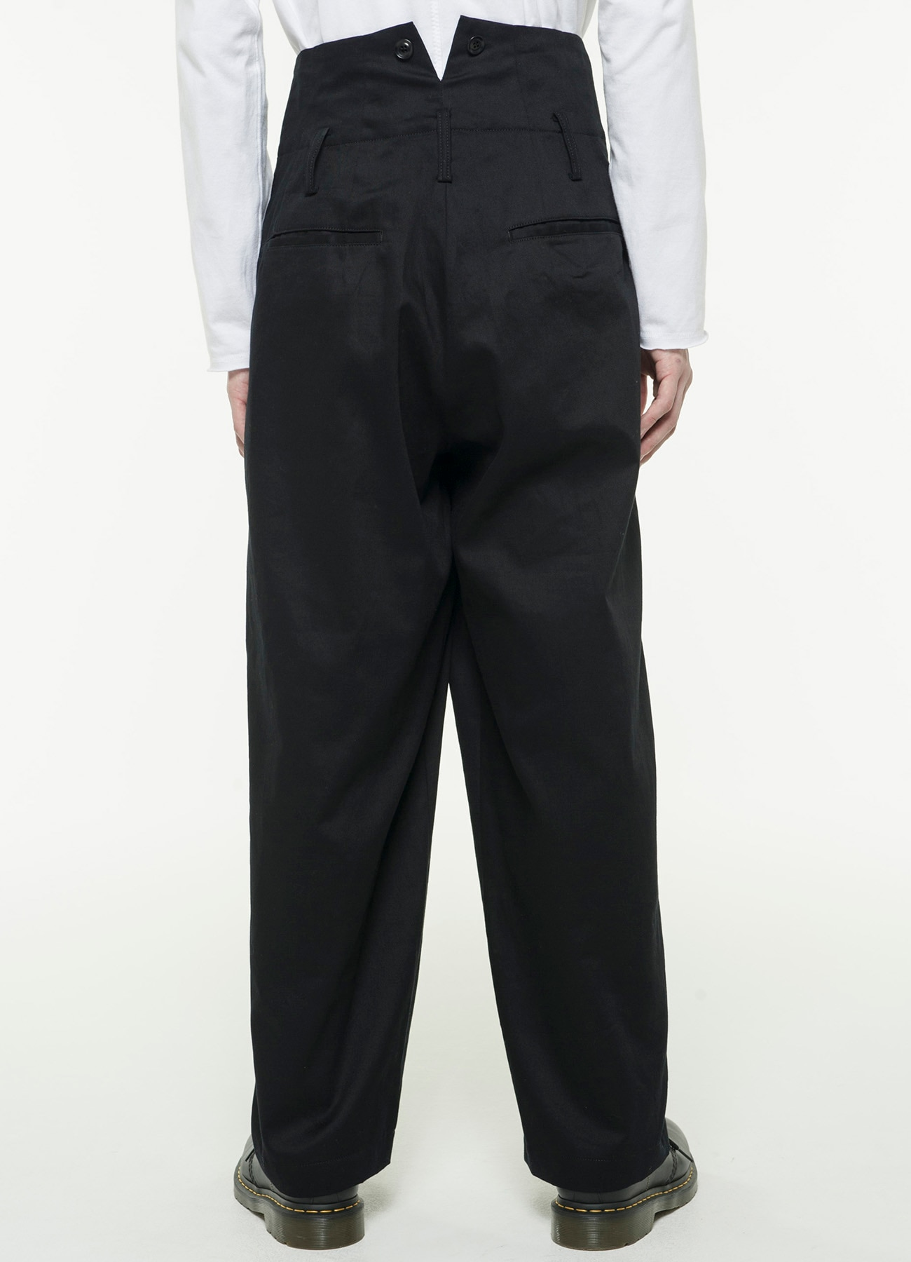 20 / Cotton Twill 3 Tuck HighWaist Wide Suspenders Pants