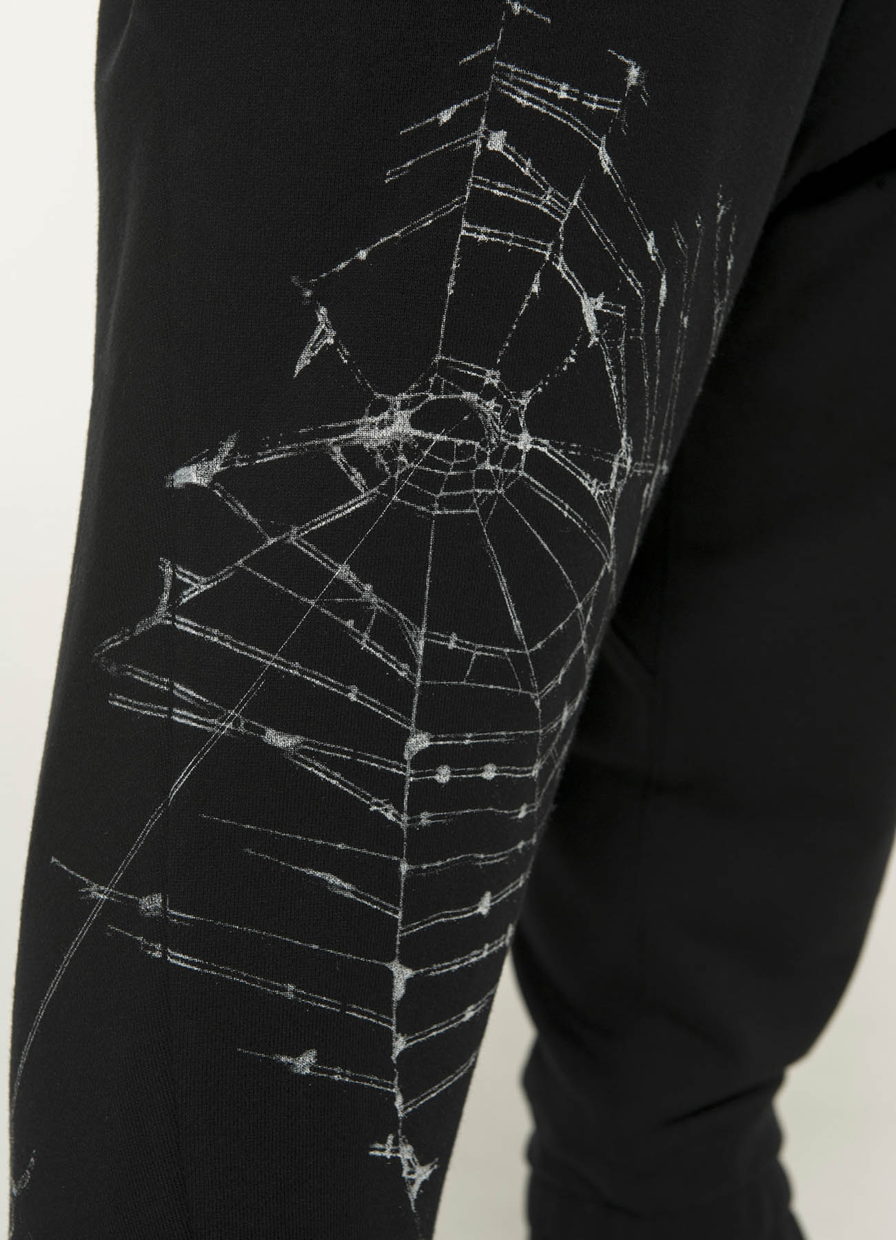 French Terry Stitch Work SpiderWeb Sarrouel Rib Pants