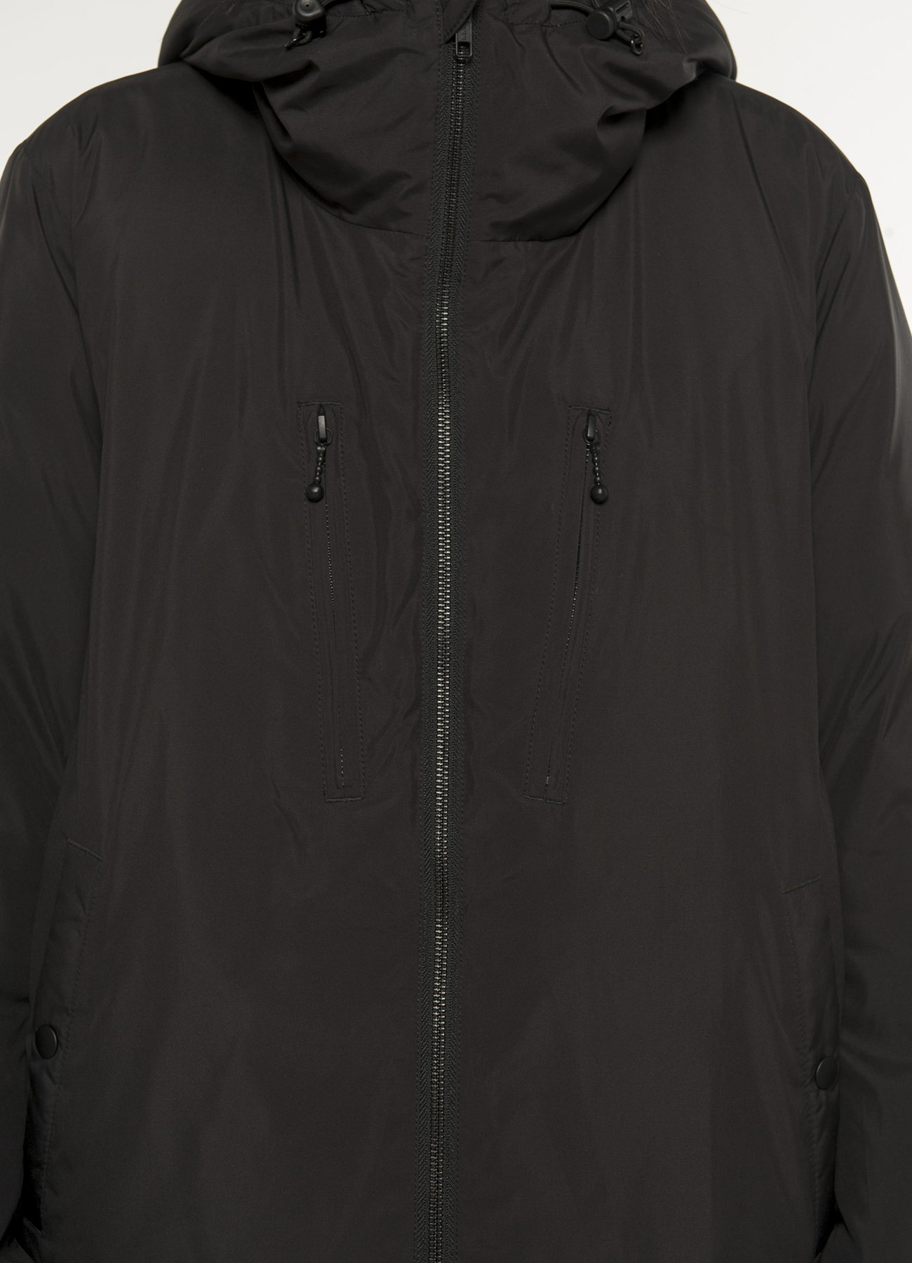 Pe Taffeta Stitch-Less Hooded Down Jacket