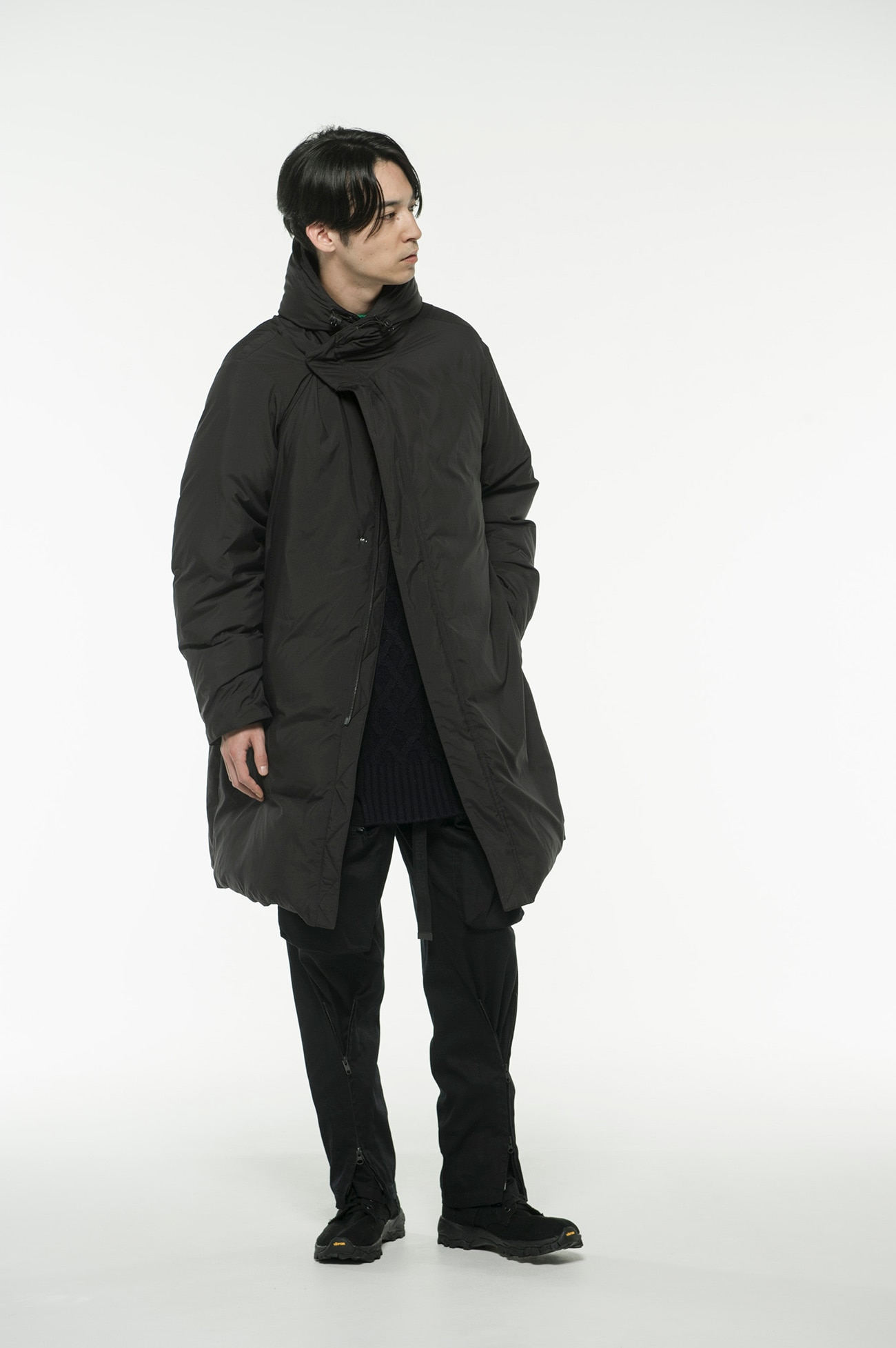 Pe Taffeta Stitch-Less Big Hooded Down Coat