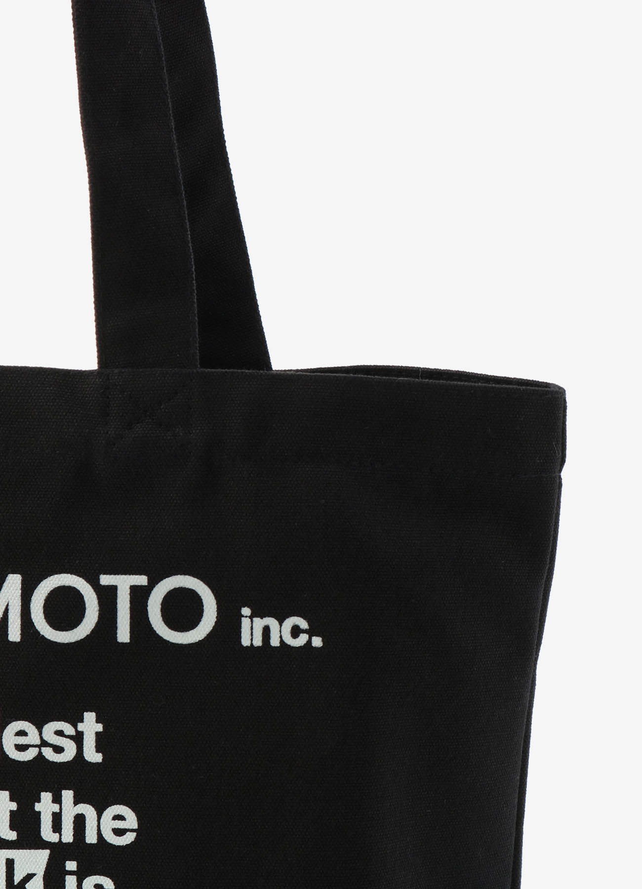 「Black Is Modest」Message tote