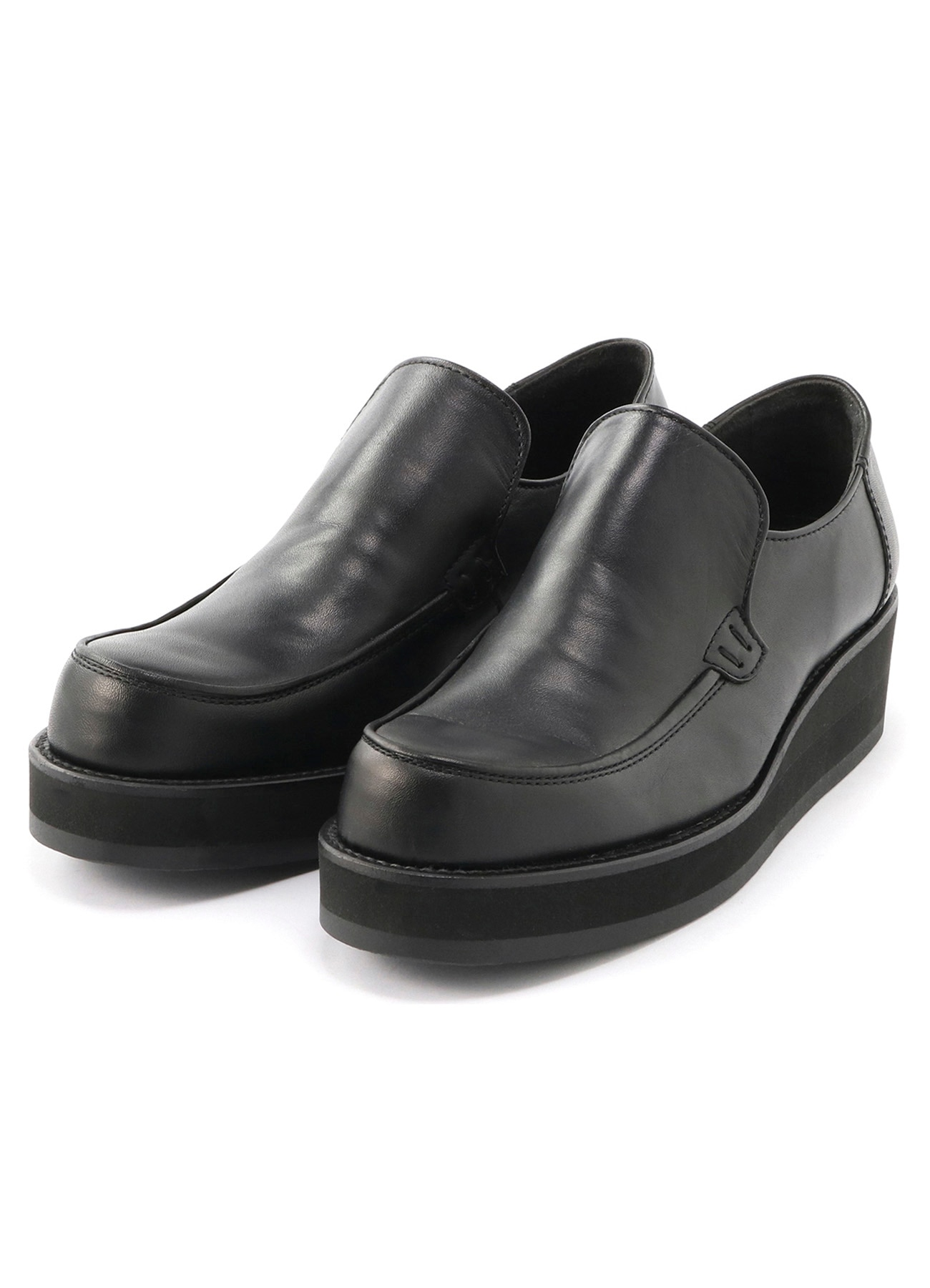 Smooth leather Thick bottom slip-on