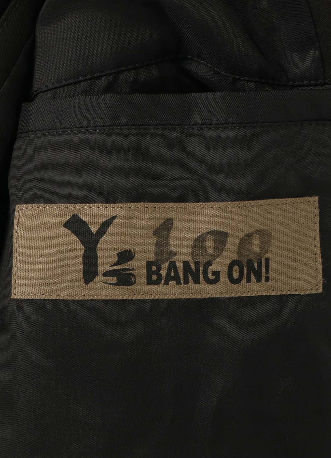 Y's BANG ON!No.100 Detachable jacket S Stretch gabardine