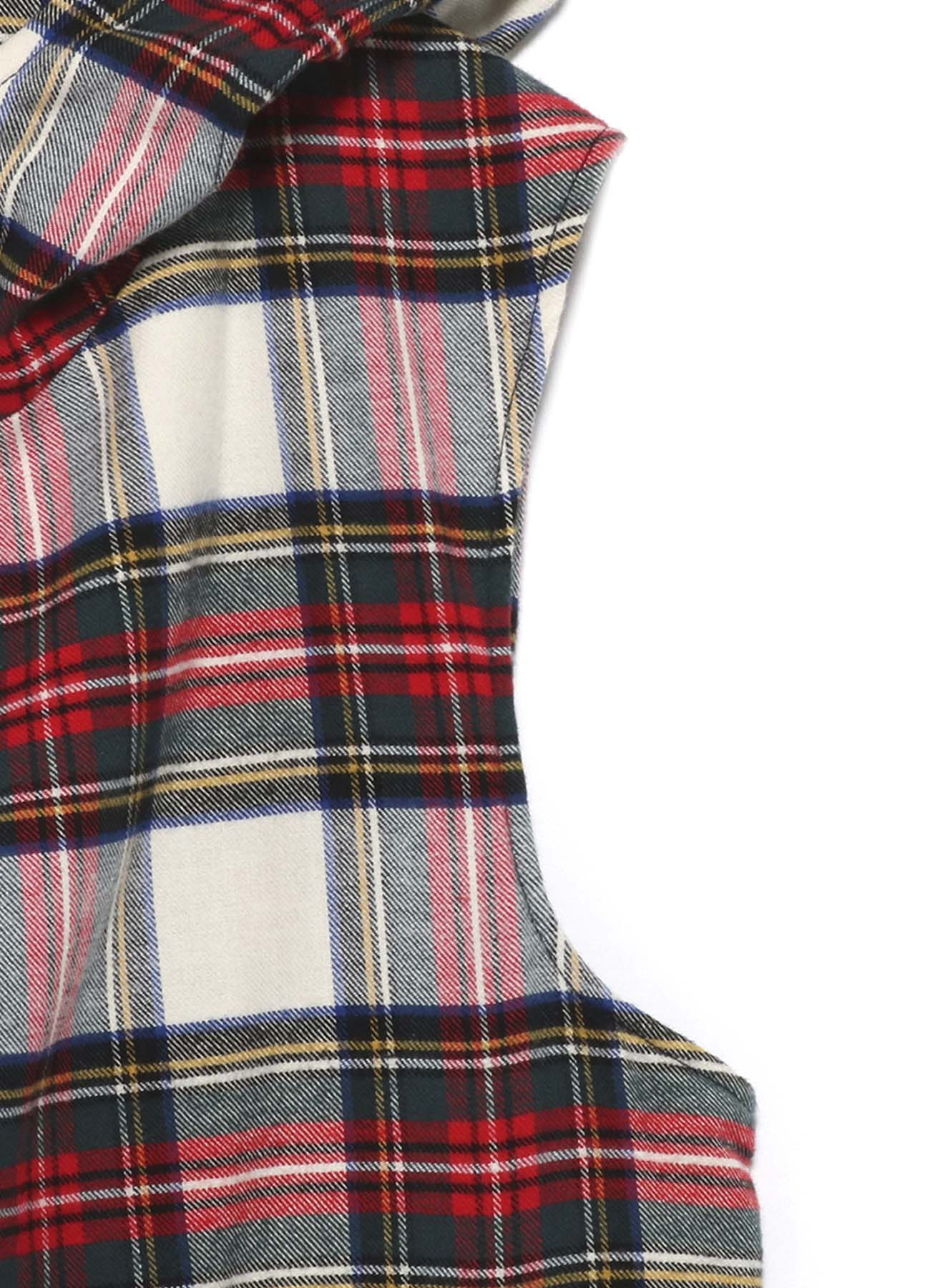 Y's BANG ON!No.95 Hooded-Vest Tartan check C