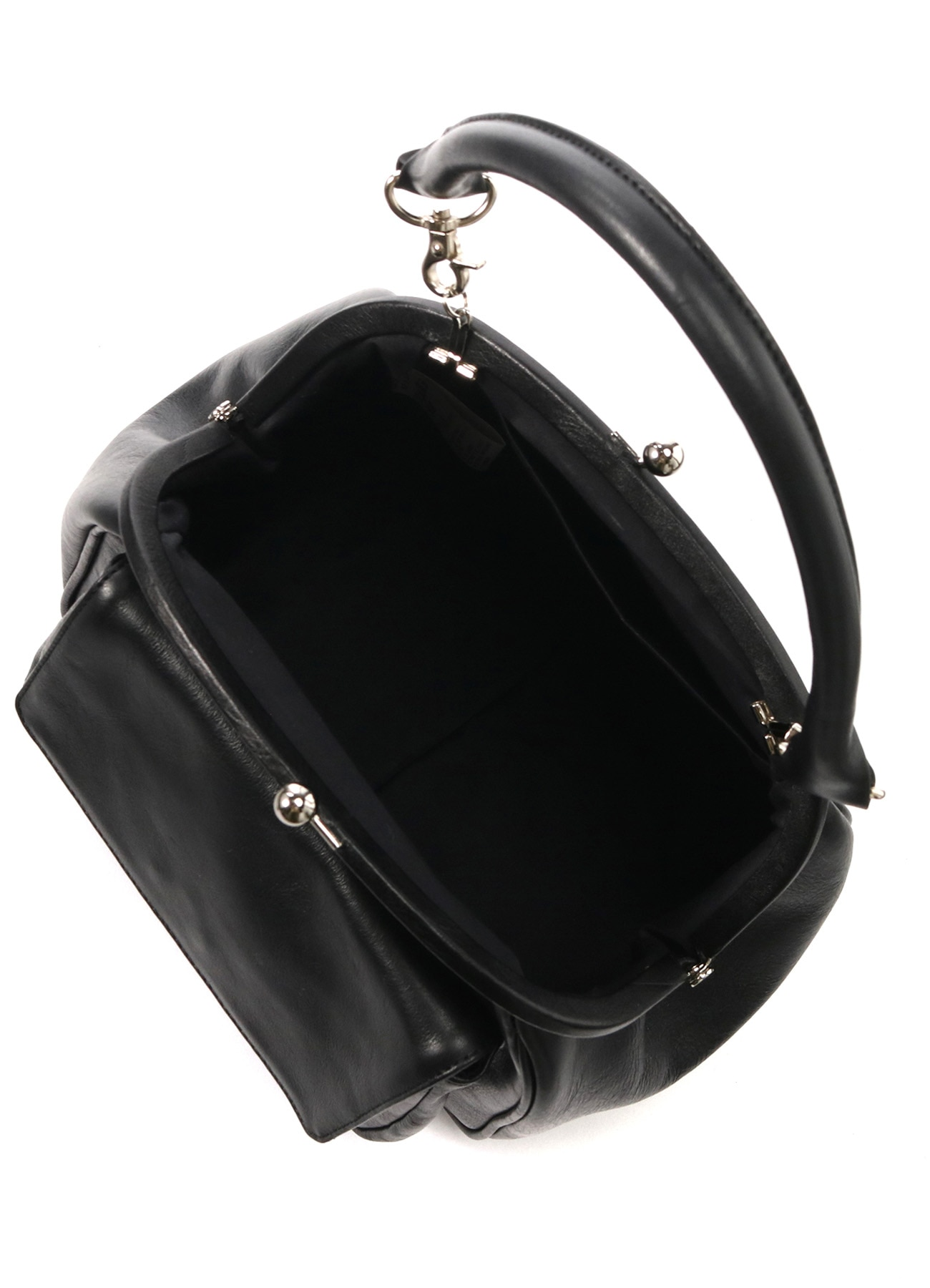 SEMI GLOSS LEATHER A CLASP PKT BAG