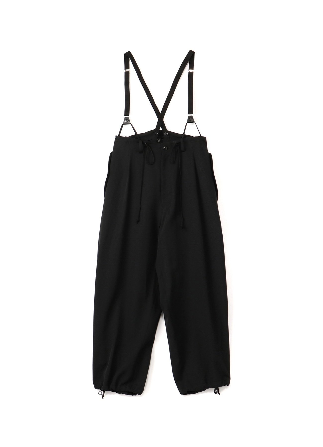 WOOL GABARDINE SUSPENDERS PANTS