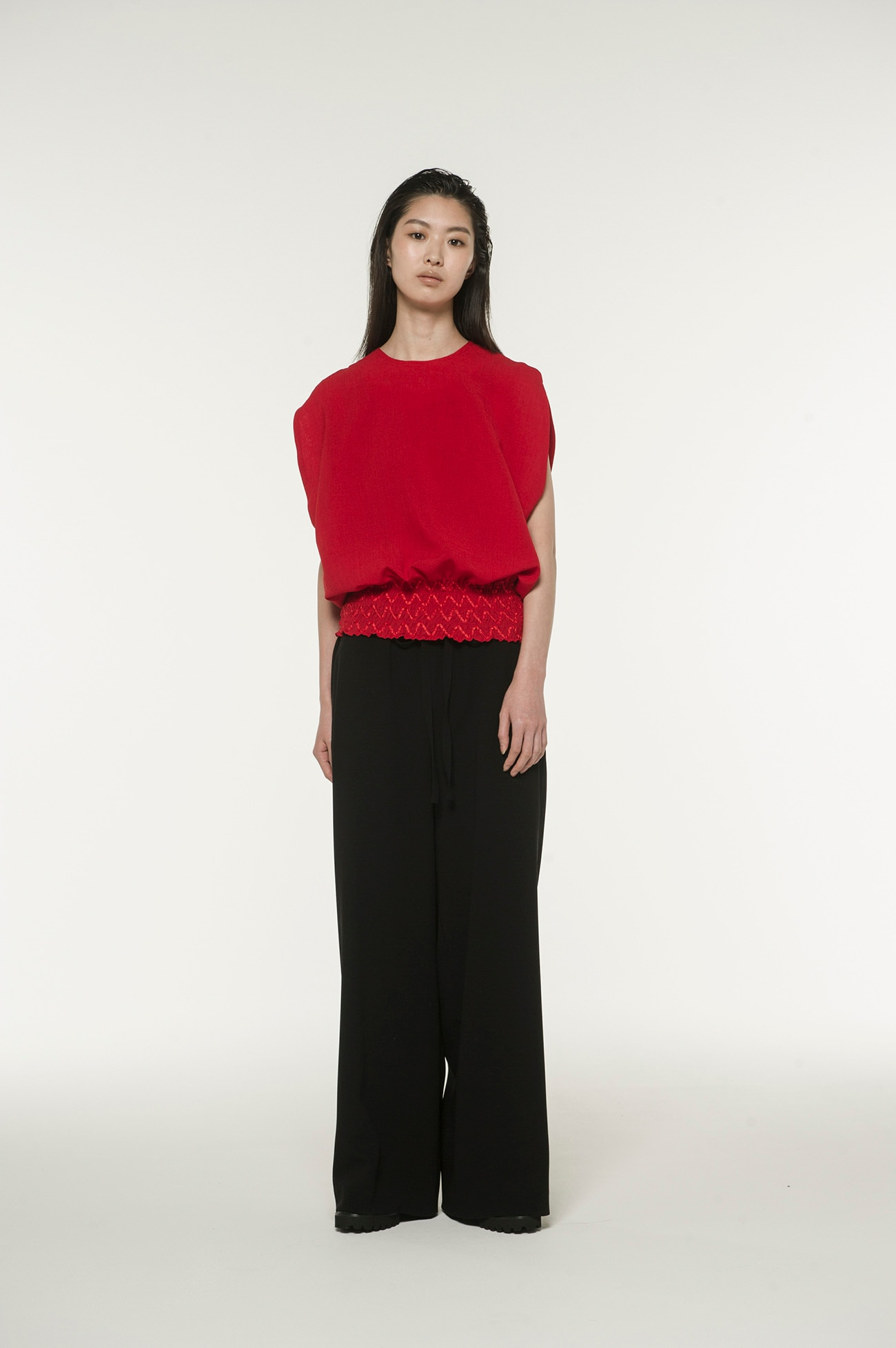 Y'sPINK Double Crepe Georgette Chain String Pants​ ​