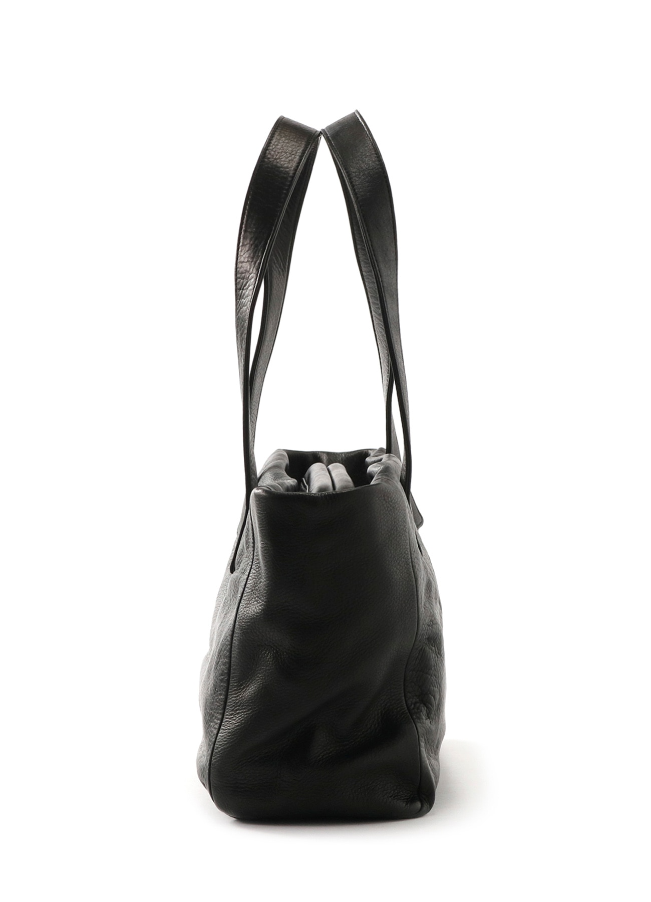 SOLF MEDIUM GLOSS LEATHER PIPE WIDE BAG