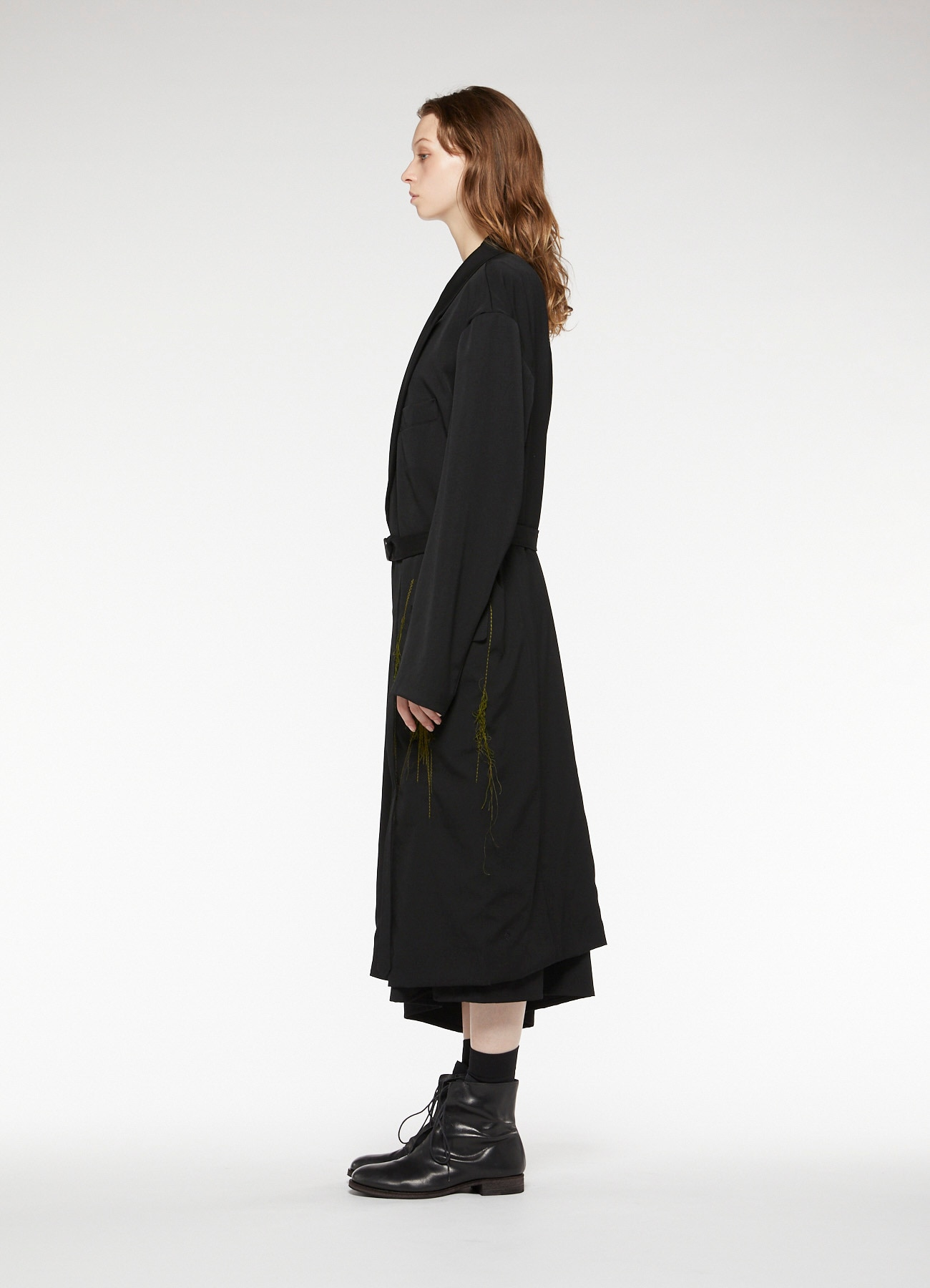 GABARDINE LONG TAILORED JACKET
