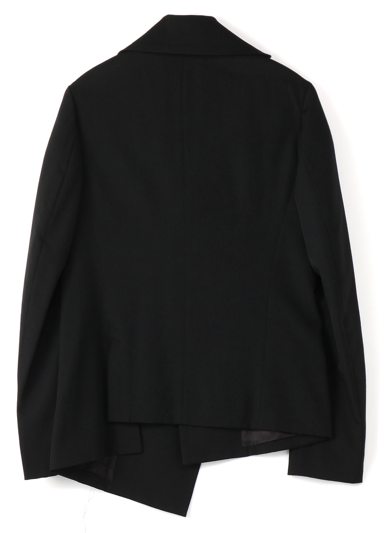 GABARDINE SQUARE ASYMMETRICAL JACKET