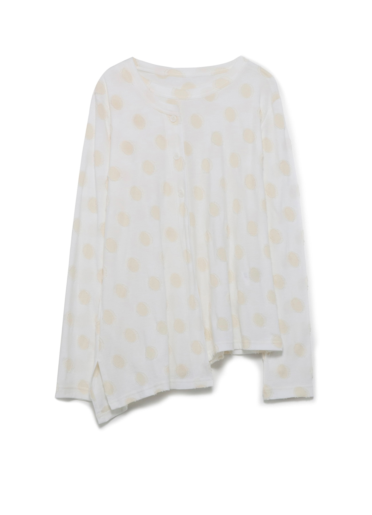 DOT CUT JACQUARD RIGHT LAYERED LONG T-SHIRT