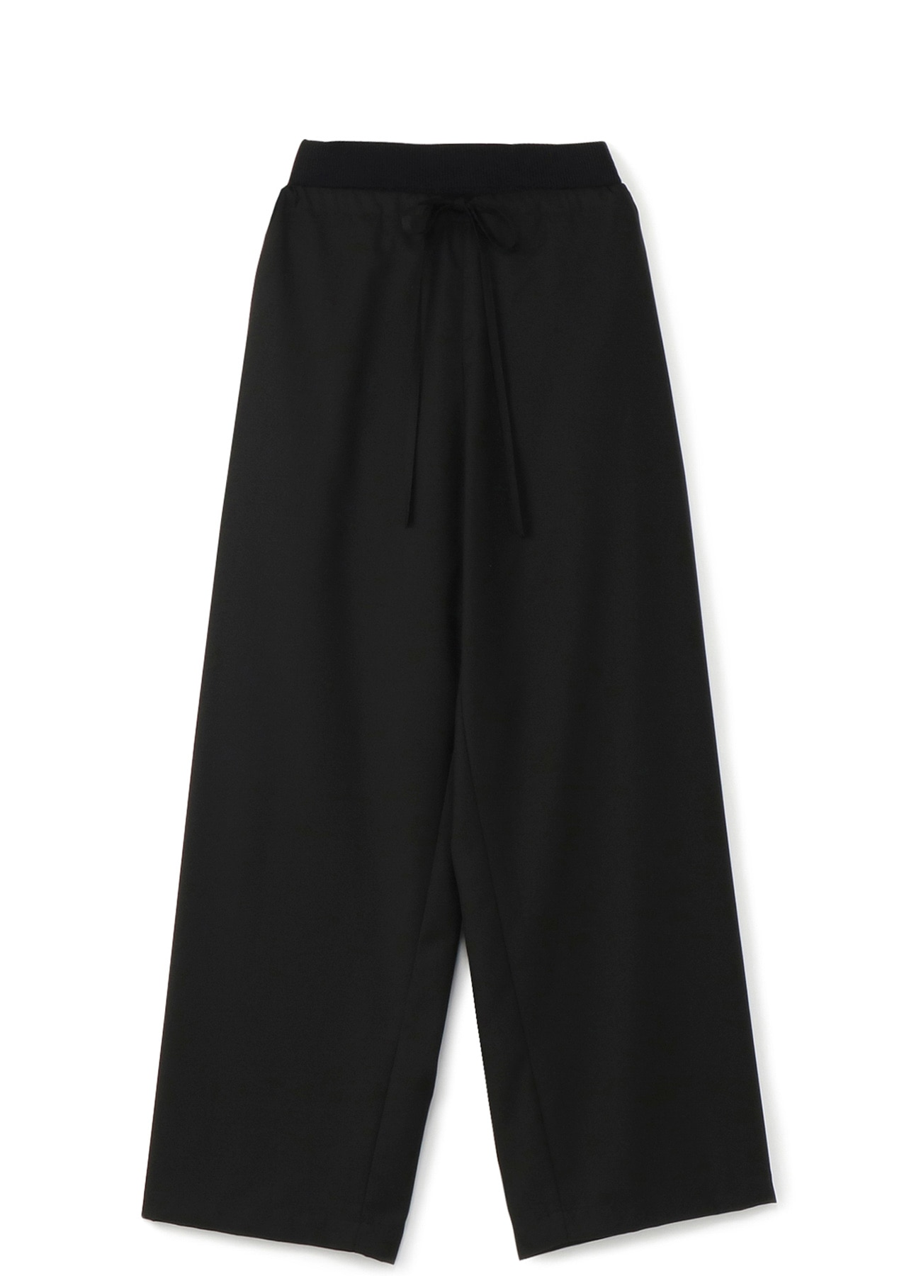 RISMATbyY's polyester Rayon Clear Twill wide pants with waist rib