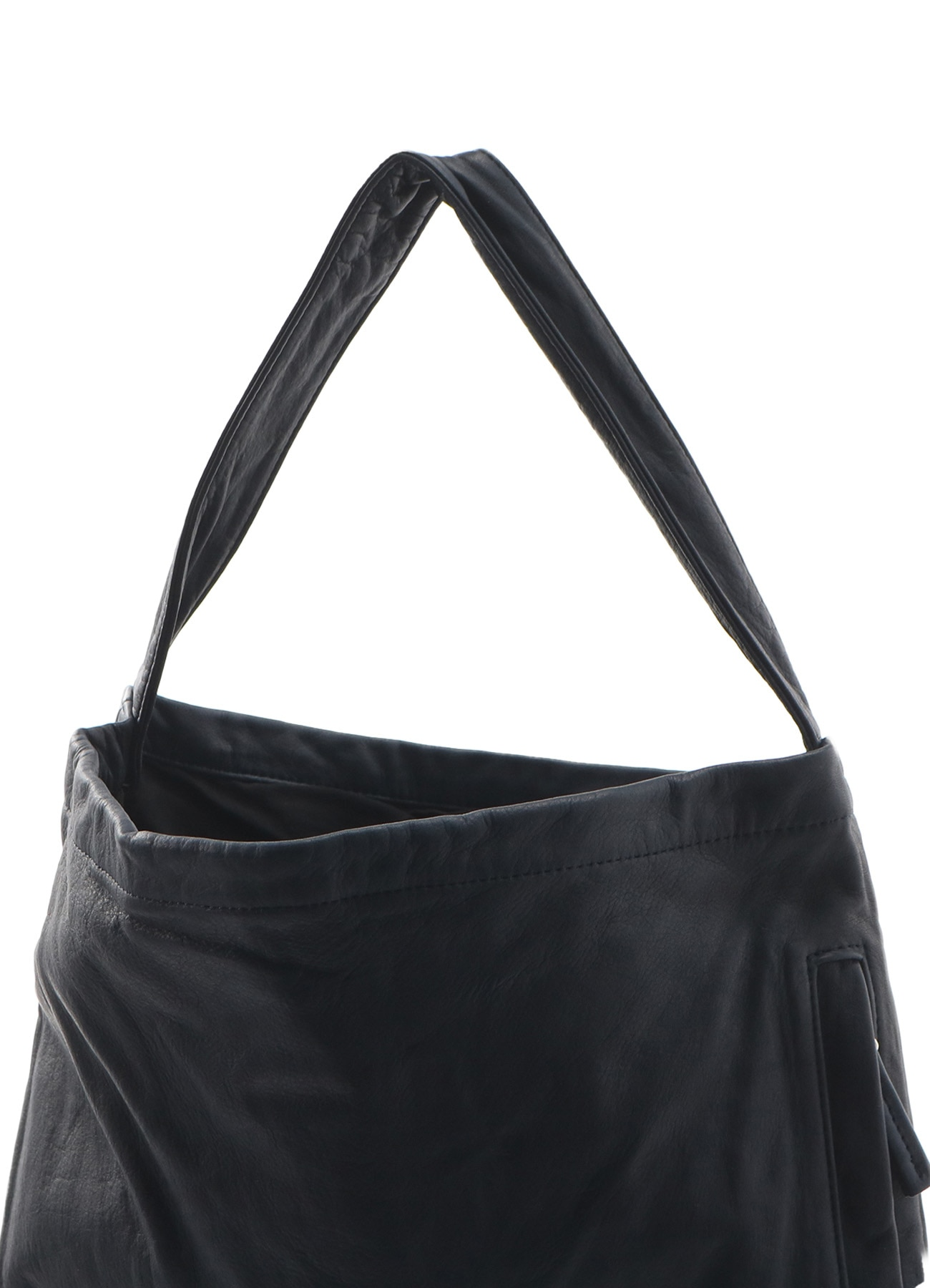 SOFT OIL LEATHER SIDE ZIP SHOULDER BAG