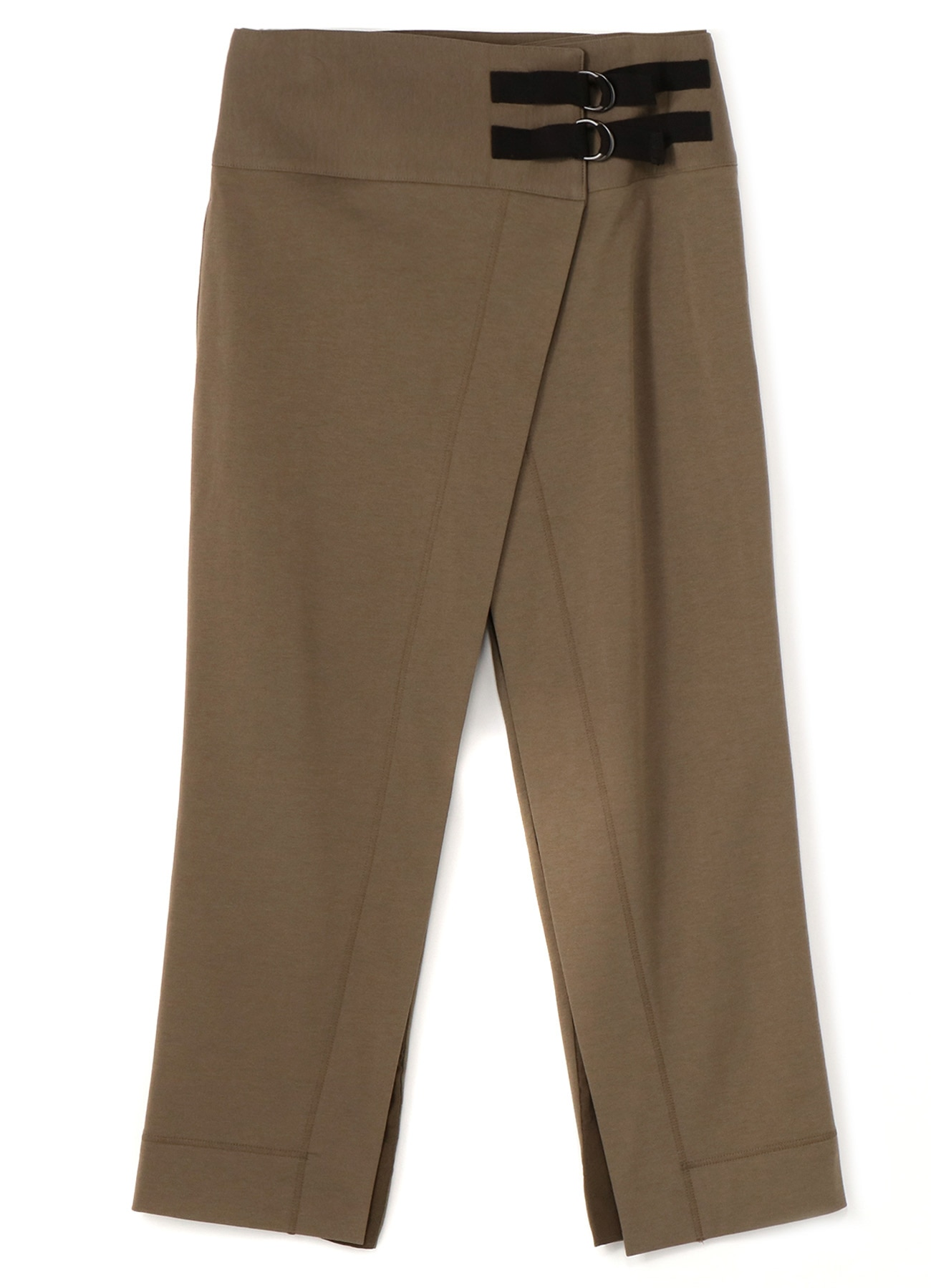 RISMATbyY's COTTON SUVIN GIZA FLEECE W BELT MED WIDE WRAP PANTS